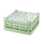 "Vollrath 52774 1 Dishwasher Rack - 25-Compartment, Tall Plus, Full-Size, 19-3/4x19-3/4"" Green"