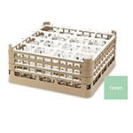 "Vollrath 52779 1 Dishwasher Rack - 36-Compartment, Medium Plus, Full-Size, 19-3/4x19-3/4"" Green"