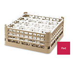 "Vollrath 52779 3 Dishwasher Rack - 36-Compartment, Medium Plus, Full-Size, 19-3/4x19-3/4"" Red"
