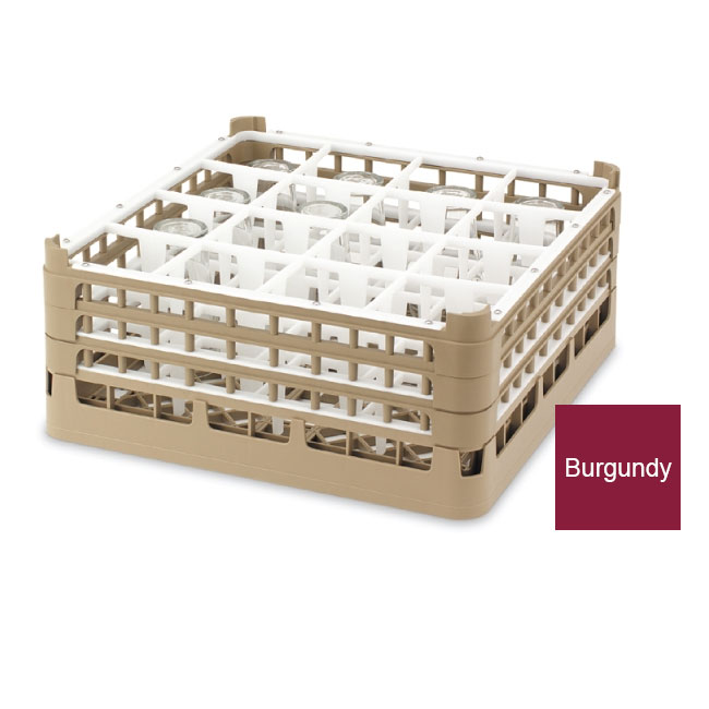 Vollrath 52780 9 Dishwasher Rack - 36-Compartment, Tall Plus, Full-Size, Burgundy