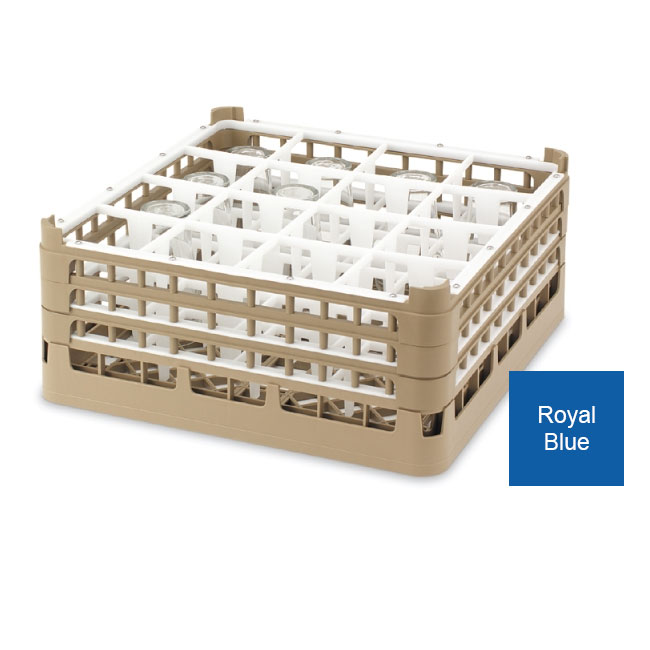 Vollrath 52783 7 Dishwasher Rack - 36-Compartment, 3X-Tall Plus, Full-Size, Royal Blue
