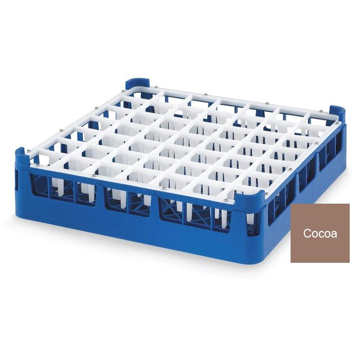 "Vollrath 52785 2 Dishwasher Rack - 49-Compartment, Medium Plus, Full-Size, 19-3/4x19-3/4"" Cocoa"
