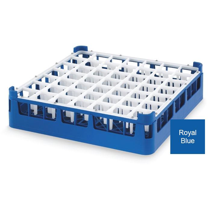 Vollrath 52785 7 Dishwasher Rack - 49-Compartment, Medium Plus, Full-Size, Royal Blue