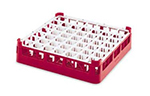 "Vollrath 52789 3 Dishwasher Rack - 49-Compartment, 3X-Tall Plus, Full-Size, 19-3/4x19-3/4"" Red"