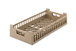 Vollrath 52800 2 Open Dishwasher Rack - Short, Half-Size, Cocoa