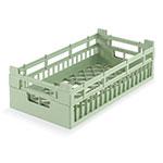 Vollrath 52801 1 Open Dishwasher Rack - Medium, Half-Size, Green