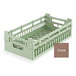 Vollrath 52801 2 Open Dishwasher Rack - Medium, Half-Size, Cocoa