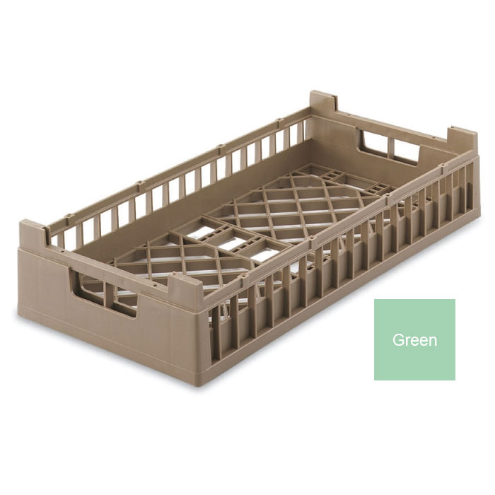 Vollrath 52803 1 Open Dishwasher Rack - X-Tall, Half-Size, Green