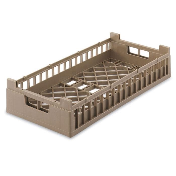 Vollrath 52803 2 Open Dishwasher Rack - X-Tall, Half-Size, Cocoa