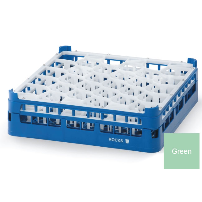 Vollrath 52812 1 Dishwasher Rack - 30-Lemon-Drop, Medium, Full-Size, Green