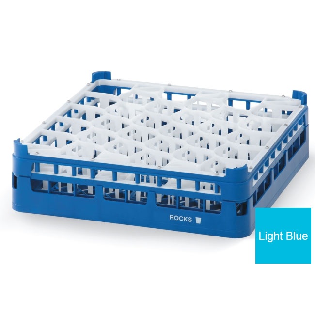Vollrath 52816 4 Dishwasher Rack - 30-Lemon-Drop, Tall, Full-Size, Blue