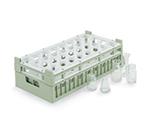 Vollrath 52819 2 Dishwasher Rack - 32 Compartment, Medium, Half-Size, Cocoa