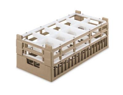 Vollrath 52820 2 Dishwasher Rack - 10 Compartment, Medium, Half-Size, Cocoa