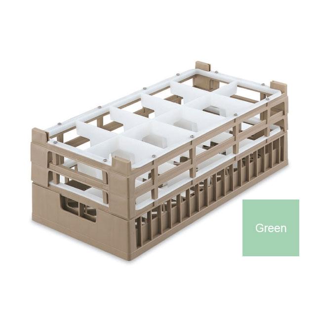 Vollrath 52821 1 Dishwasher Rack - 10 Compartment, Tall, Half-Size, Green