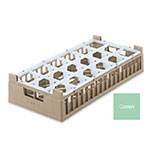 Vollrath 52823 1 Dishwasher Rack - 18 Compartment, Medium, Half-Size, Green
