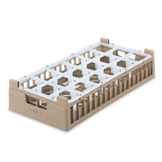 Vollrath 52824 2 Dishwasher Rack - 18 Compartment, Tall, Half-Size, Cocoa