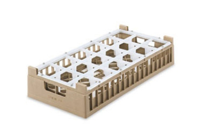 Vollrath 52825 2 Dishwasher Rack - 18 Compartment, X-Tall, Half-Size, Cocoa