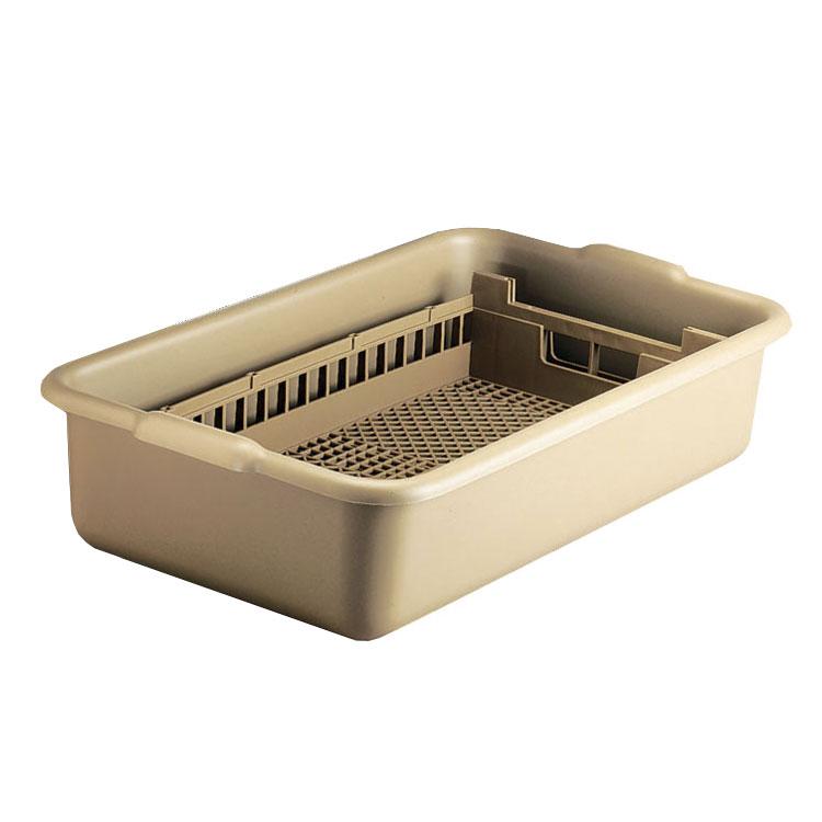Vollrath 52827 Flatware Soak System - Half-Size, Rack and Soak Tub, Beige