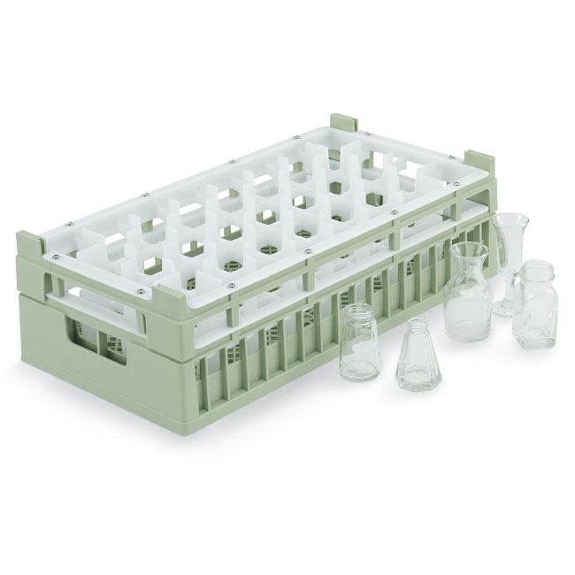 Vollrath 52829 1 Dishwasher Rack - 32 Compartment, X-Tall, Half-Size, Green