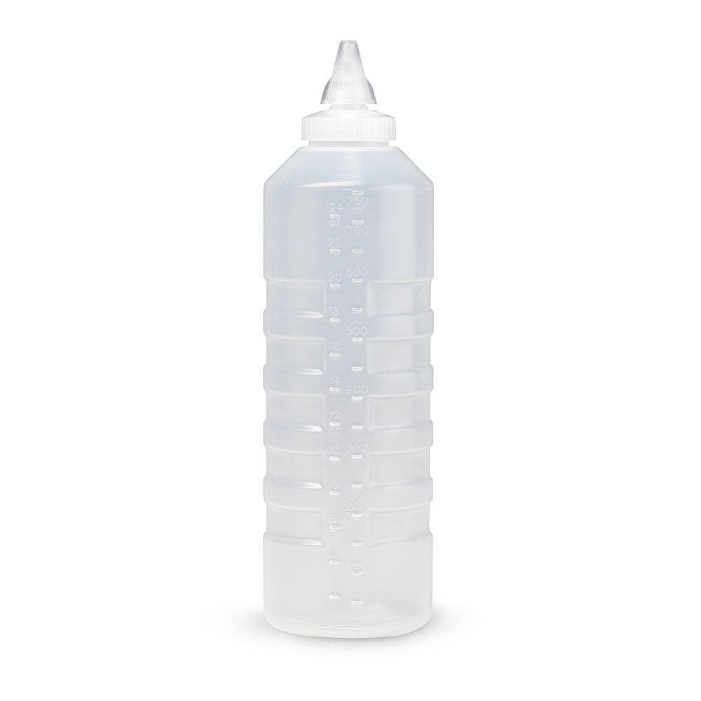 Vollrath 5324-13 24-oz Squeeze Bottle Dispenser - Closeable Cap, Clear Cap, Clear