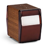 Vollrath 5509-12 Tabletop 2-Sided Napkin Dispenser - Walnut