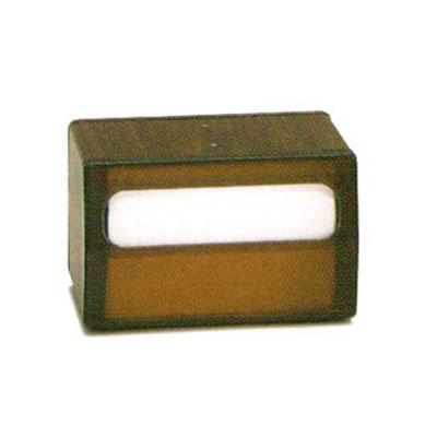 Vollrath 5515-12 Tabletop 2-Sided Napkin Dispenser - Transparent Face, Walnut