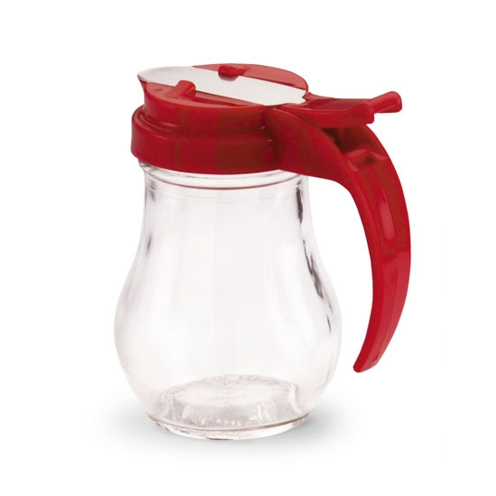 Vollrath 606-02 Dripcut Server, 6-oz, White Polyethylene Jar w/ Red Plastic Top