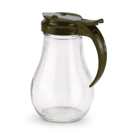 Vollrath 614-01 Glass Jar Server w/ Plastic Brown Top, 14-oz