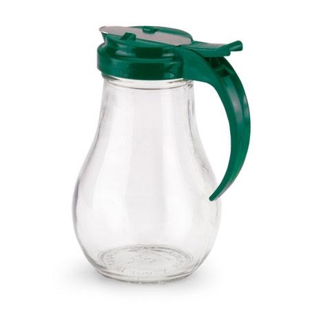 Vollrath 614-191 14-oz Syrup Server - Vista Green Plastic Cap, Glass Jar