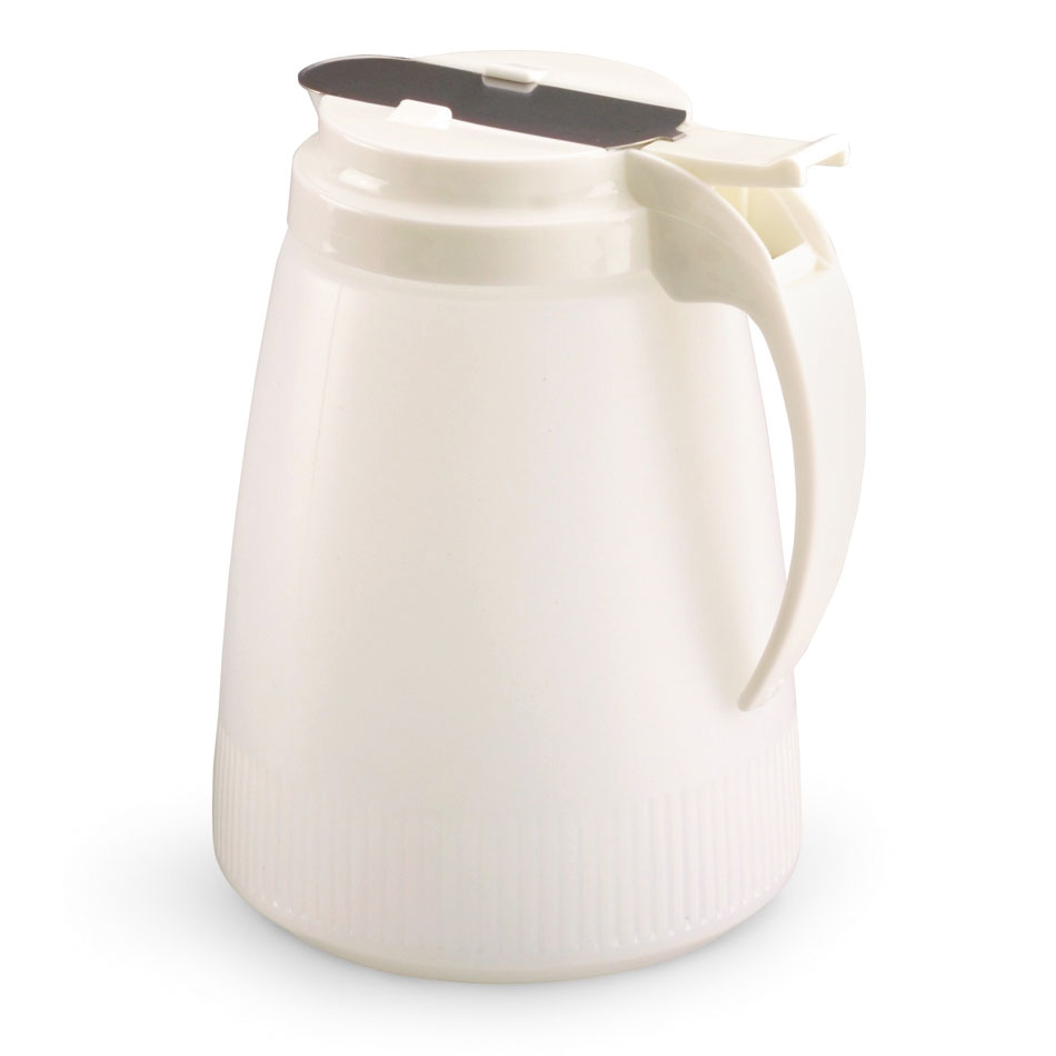Vollrath 632-05 32-oz Syrup Server - White Plastic Cap, White Poly Jar