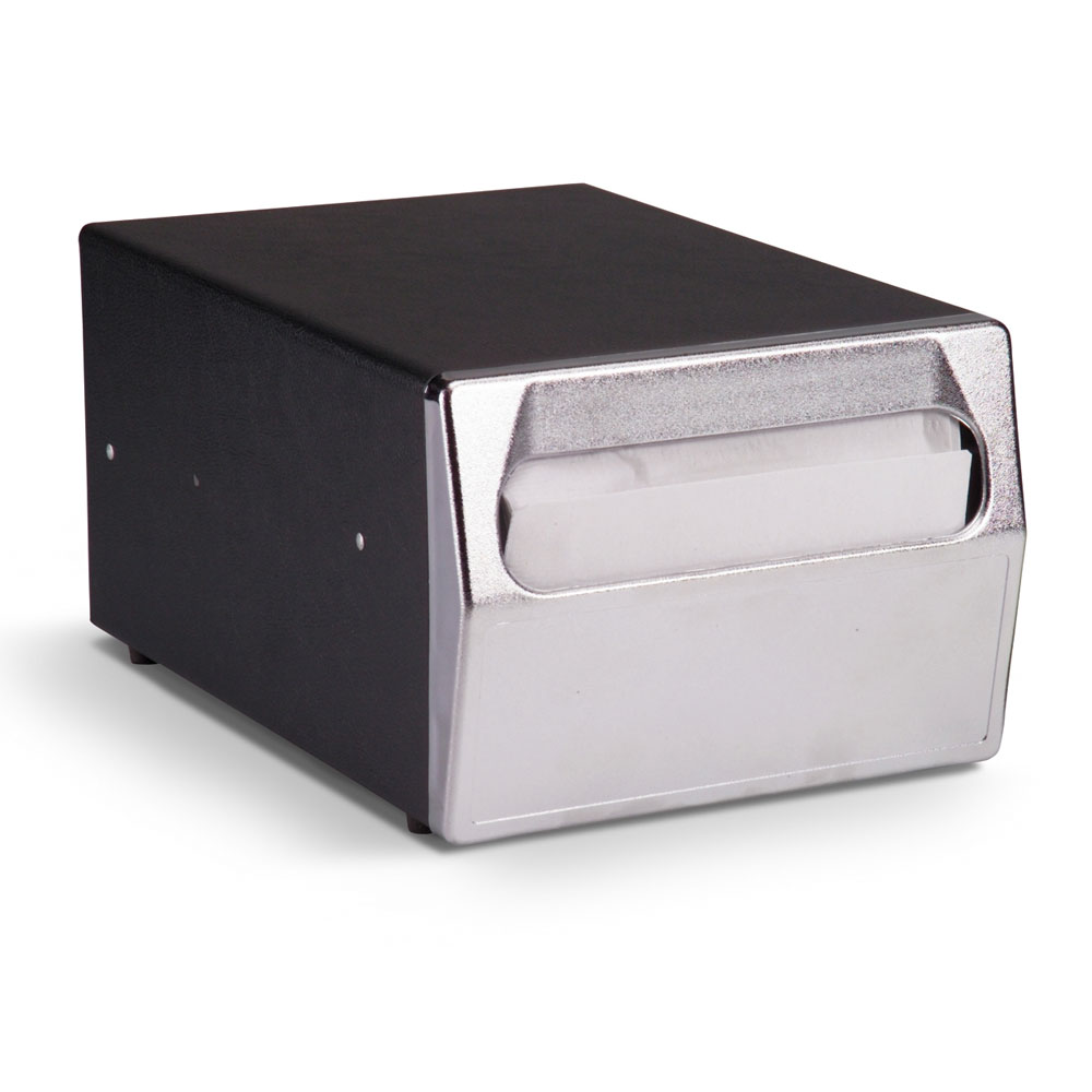 Vollrath 6512-06 Counter-Type Napkin Dispenser - Chrome Face, Black
