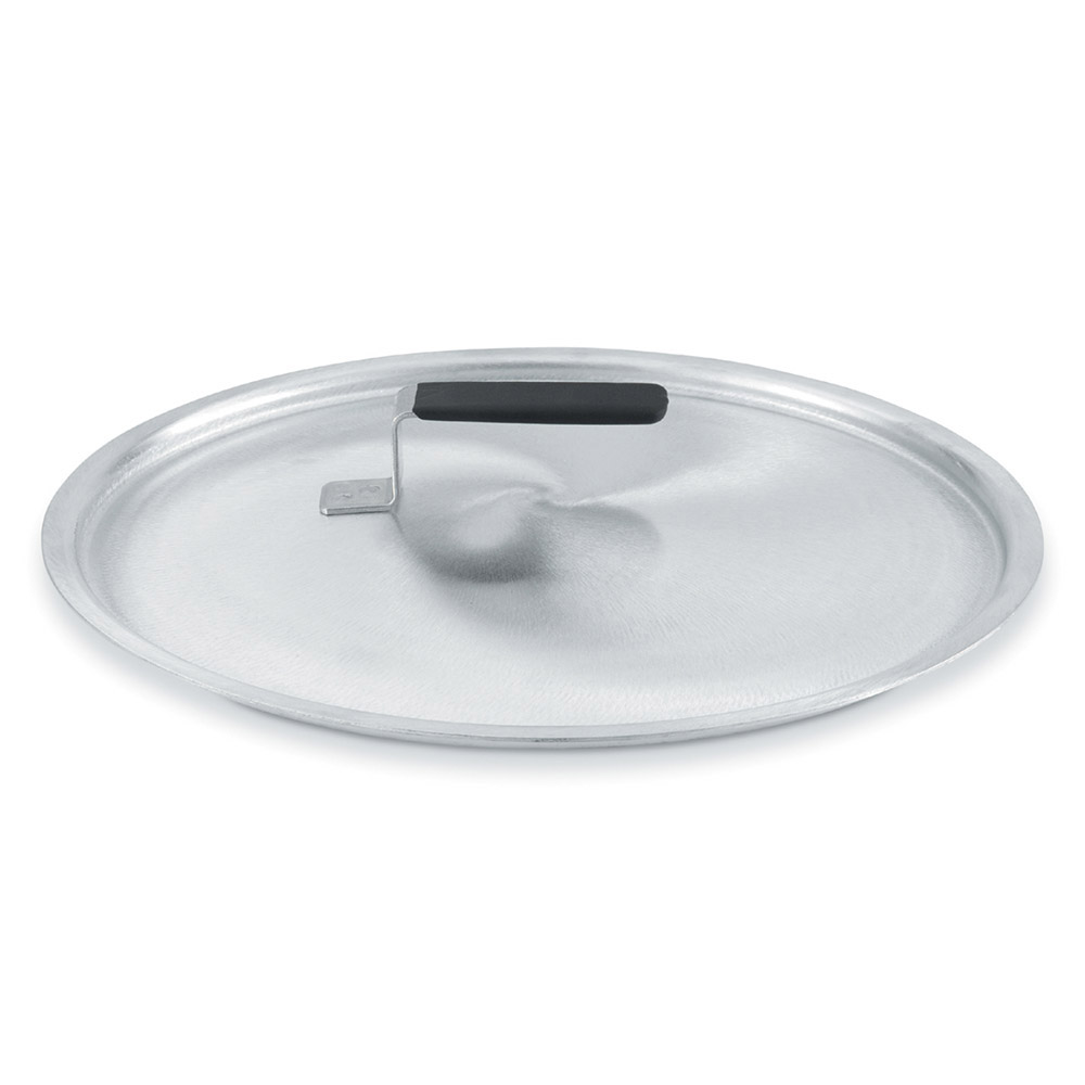 "Vollrath 67413 9.187"" Domed Stock Cover, Aluminum"