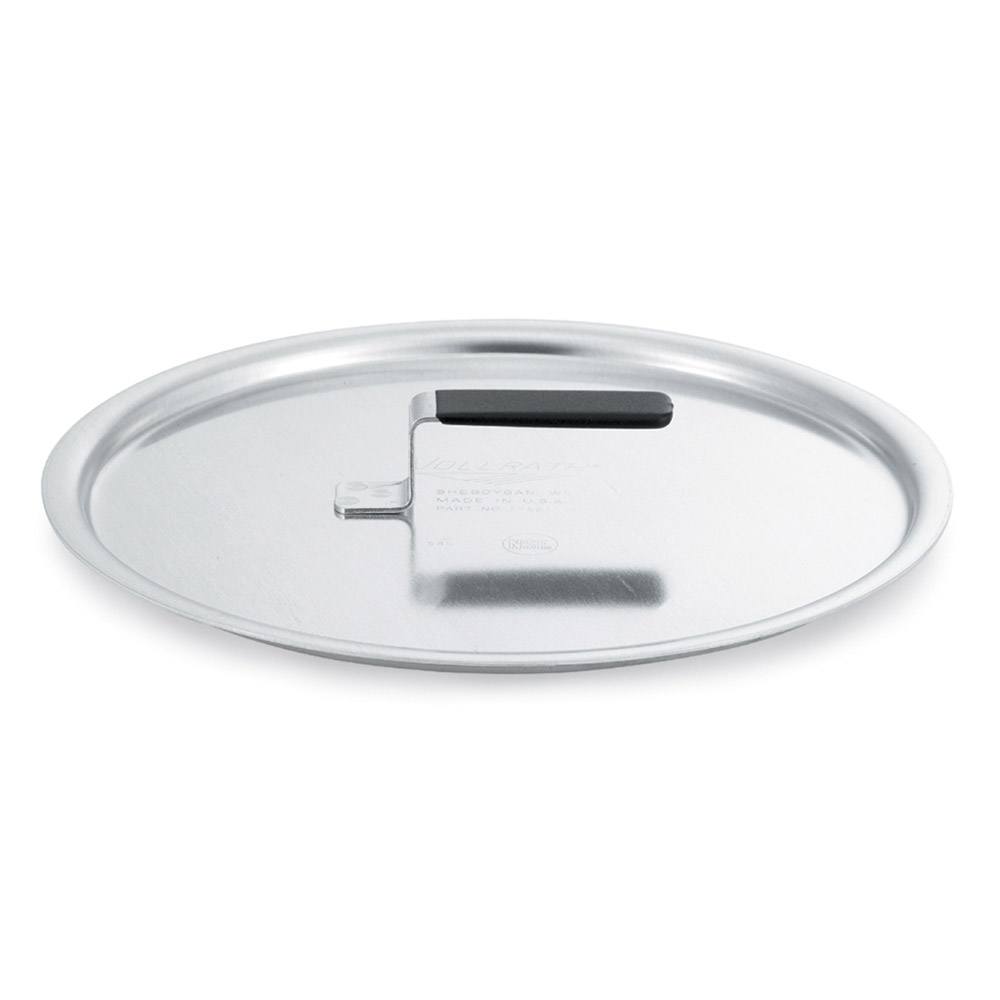 "Vollrath 67521 12.62"" Flat Stock Pot Cover, Aluminum"