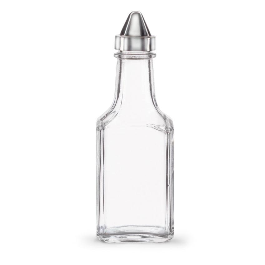 Vollrath 68020-0 5-oz Oil & Vinegar Cruet Set - Square Glass Jar
