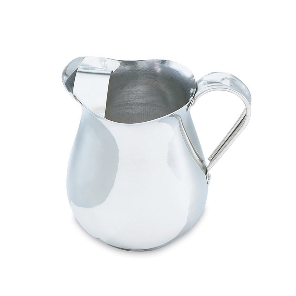 Vollrath 68174 2-1/8-qt Pitcher with Ice Guard - Satin-Finish Aluminum