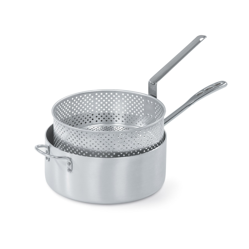 Vollrath 68227 9-qt Fry Pot w/ Basket - Aluminum