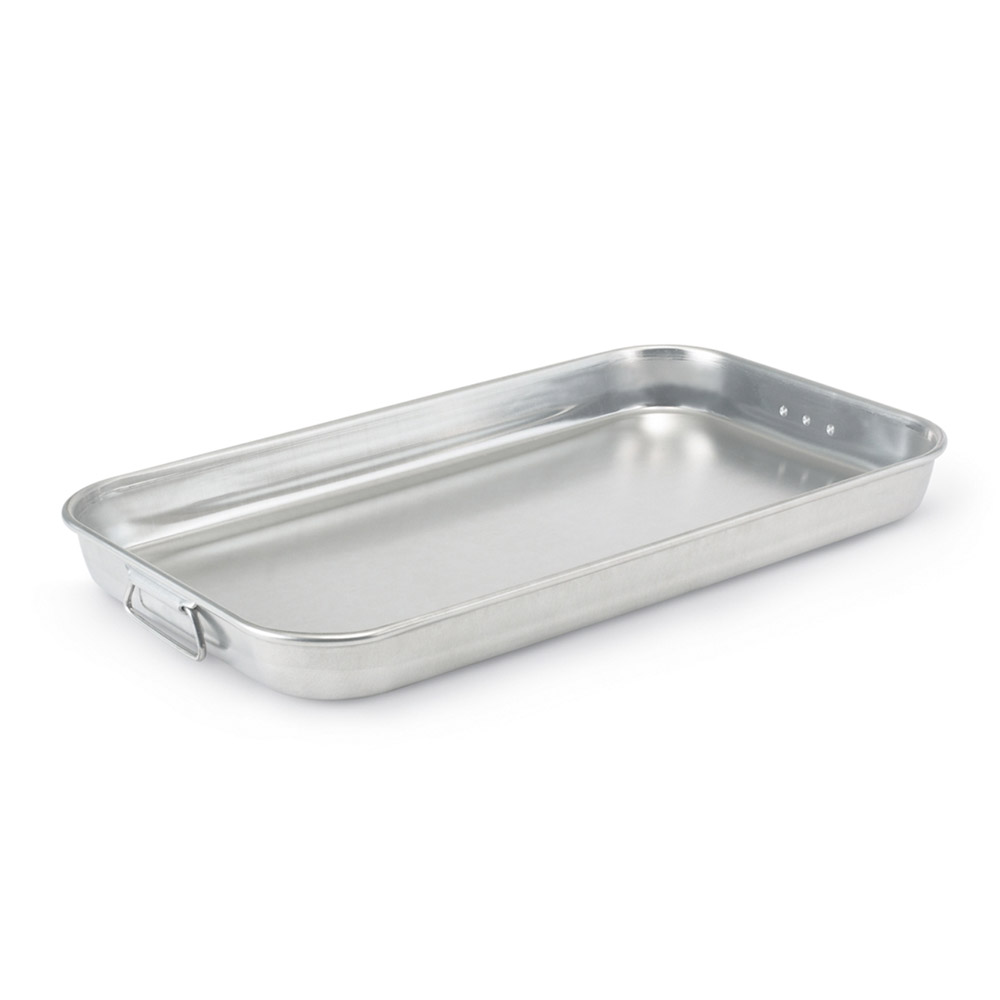 "Vollrath 68253 Baking/Roasting Pan with Handles - 23x13"" Aluminum"