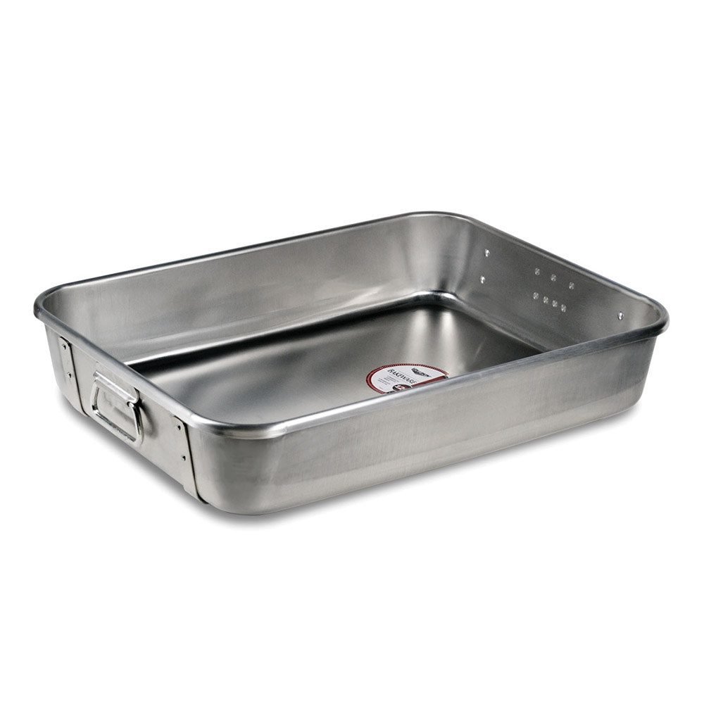 "Vollrath 68361 29-3/4-qt Roasting Pan Top with Straps - 24x18x4-3/4"" Aluminum"