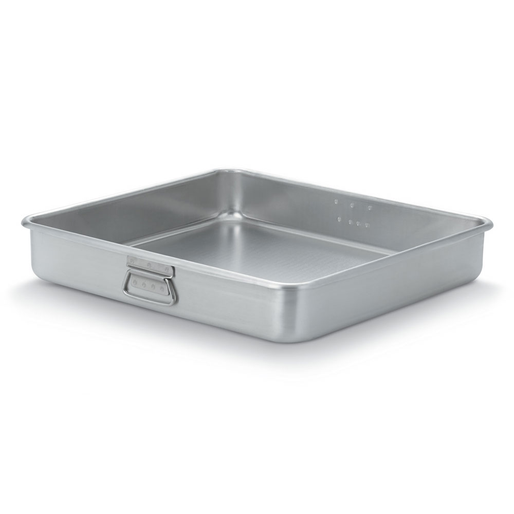 "Vollrath 68364 23-1/2-qt Roasting Pan Top - Loop Handles, 19-13/16x21-13/16x3-5/8"" Aluminum"