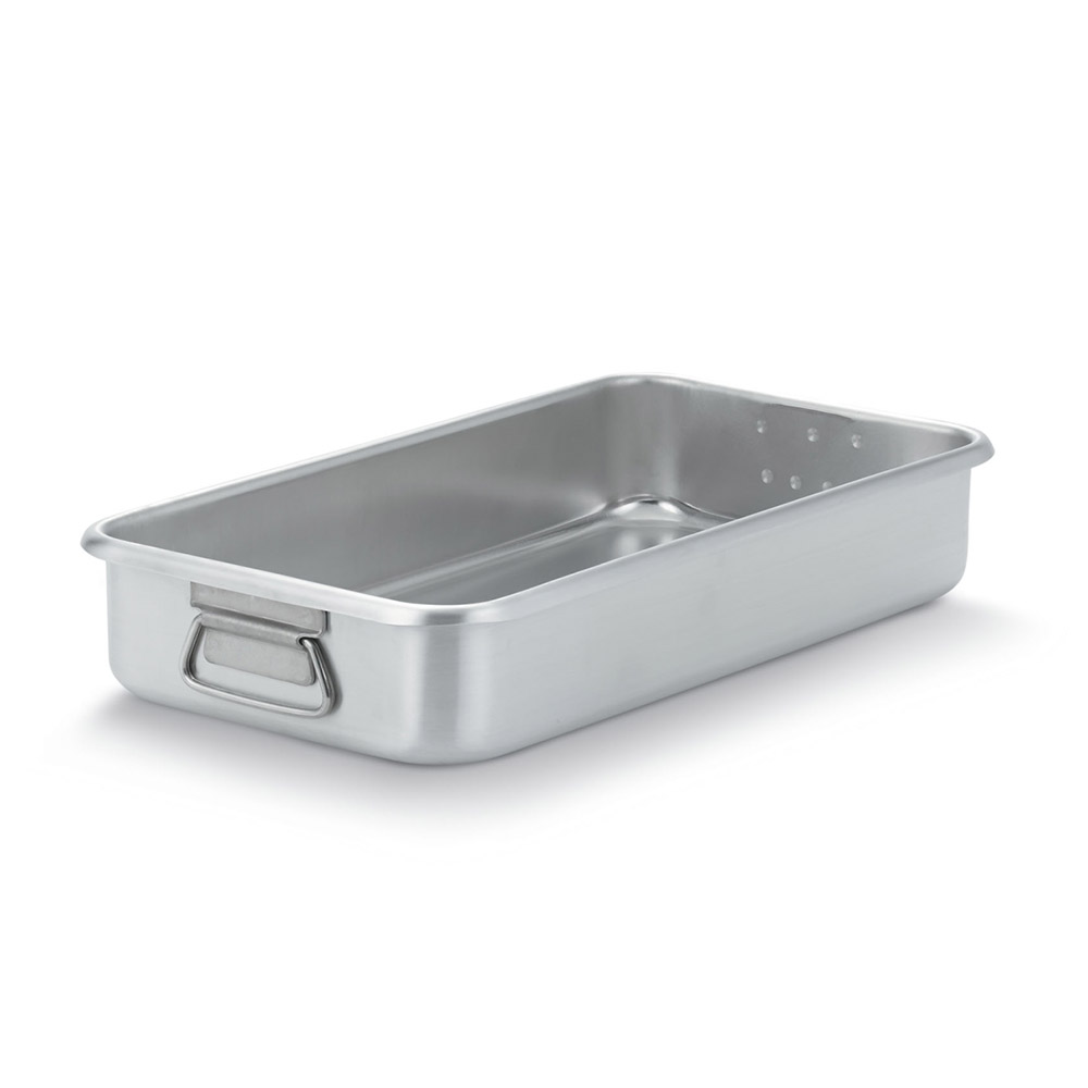 "Vollrath 68366 11-1/4-qt Roasting Pan Top - Loop Handles, 19-3/4x10-7/8x3-5/8"" Aluminum"