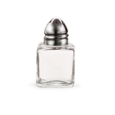 "Vollrath 710 2"" Salt/Pepper Shaker w/ Metal Lid, Square"