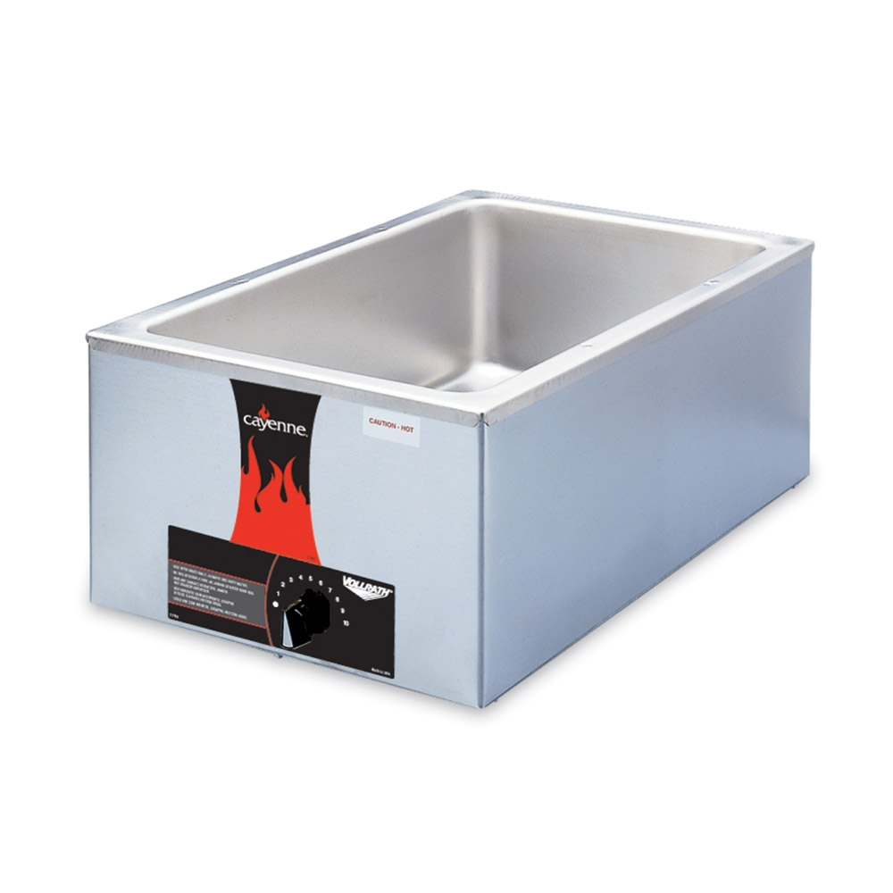 Vollrath 72001 Drop-In Food Warmer- Full-Size, Thermostat, 120v