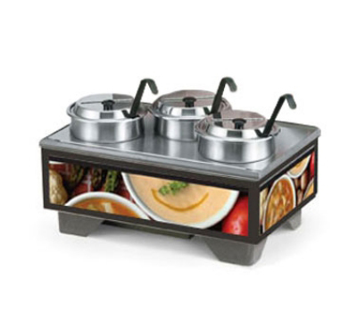 Vollrath 720201007 Cayenne Soup Merchandiser Base & 4 qt Accessory pack, Variety Graphics