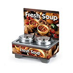 Vollrath 720202103 Full-Size  Soup Merchandiser Base - Country Kitchen, Menu Board, 7-qt Accessories 120v