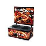 Vollrath 7203103 Twin 7-1/4-qt Well Soup Merchandiser Base - Menu Board, Country Kitchen 120v