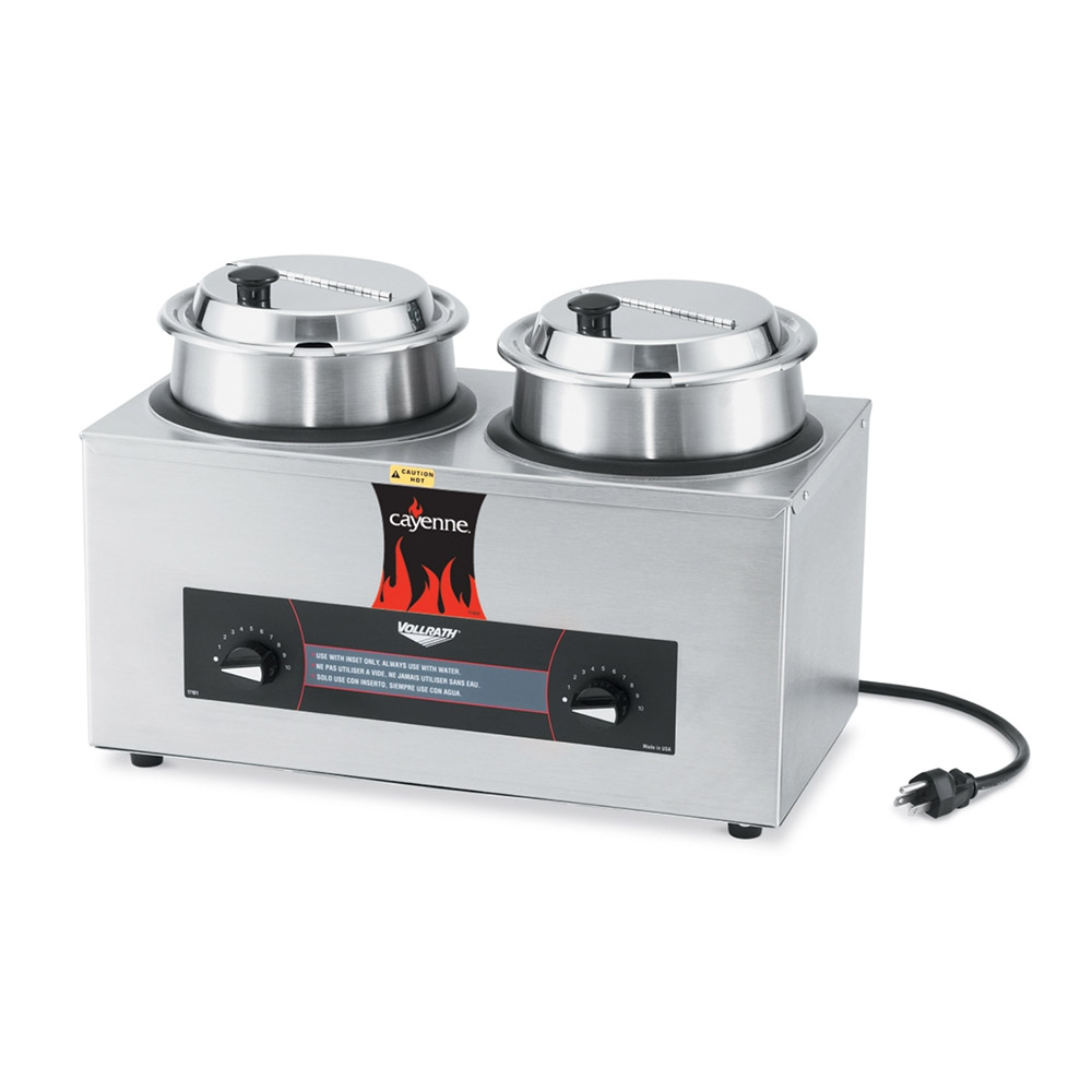 Vollrath 72040 Countertop Rethermalizer Package - (2) 4-qt Wells with Covers 120v