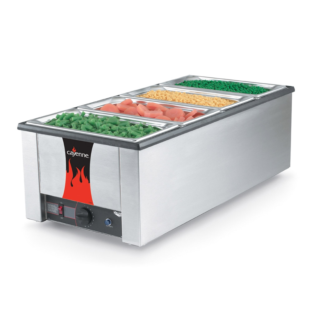 """Vollrath 72050 Countertop Warmer - Holds (4) 1/3 Size Pans, 28-3/4x13-3/4x9-3/4"""" 120v"""