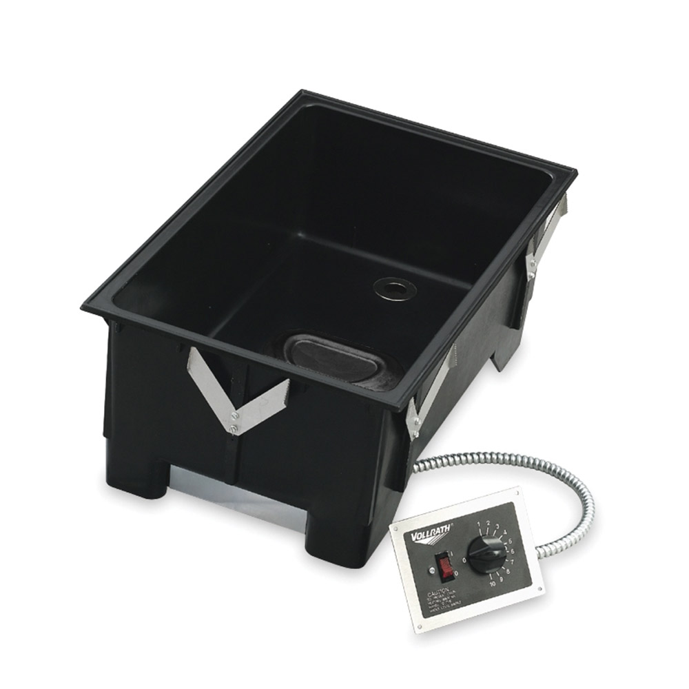Vollrath 72112 Drop-In Warmer - Holds (4)1/3 Size Pans, Thermostat 240v