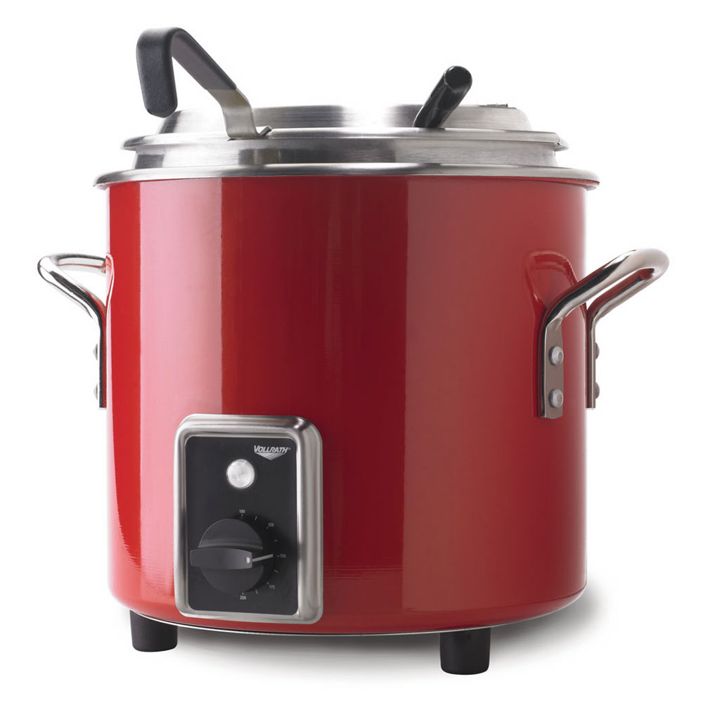 Vollrath 7217755 7-1/4-qt Kettle Rethermalizer - Thermostat, Fire Engine Red 120v