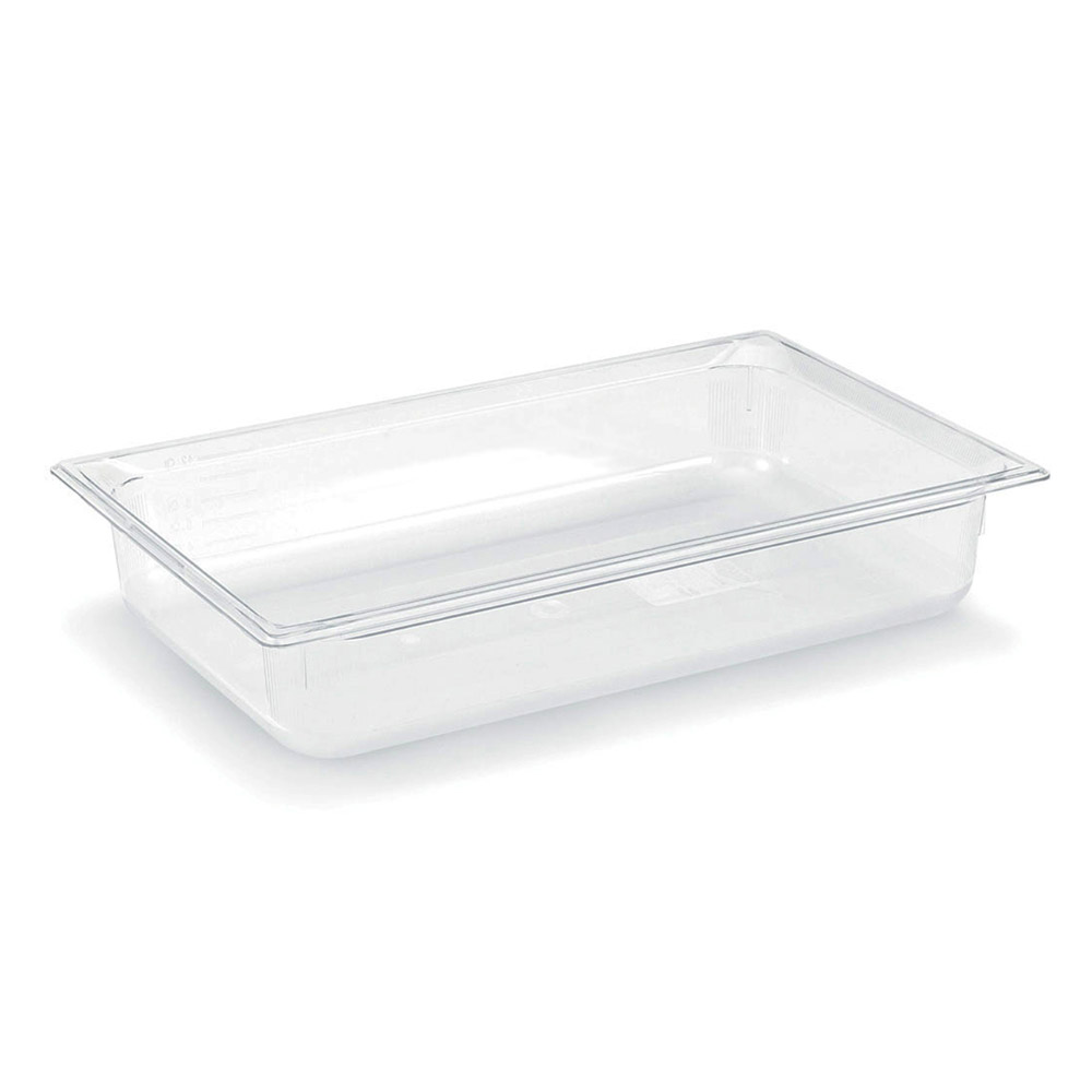 "Vollrath 8002410 Full-Size Food Pan - 2-1/2"" Deep, Low-Temp, Clear Poly"
